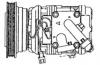 KIA SEPHIA -R134A, 10PA15C 4PK GROOVE (SUC 3054)